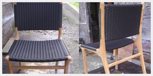 Stoel chair teak wood hout ready Tafelstoel