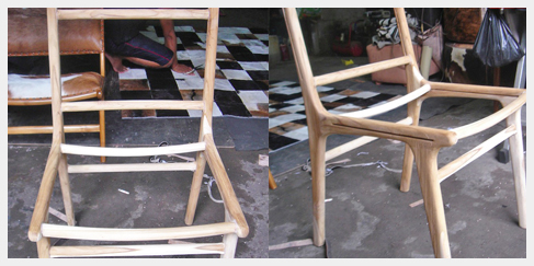 Stoel chair teak wood hout