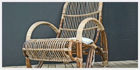 Nieuwe rotan lounge stoel some name it bamboo chair for Tuinstoel rotan