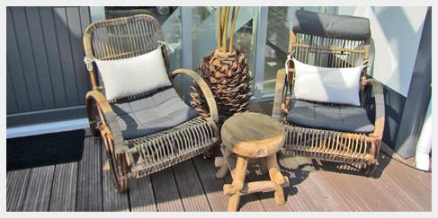 Bamboe stoel ibiza outdoor for Lounge stoel buiten