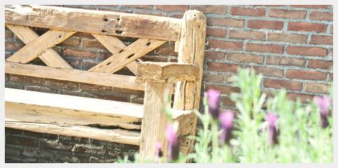 grove tuinbank buitenbank ruin loungeset inrichting loungehoek