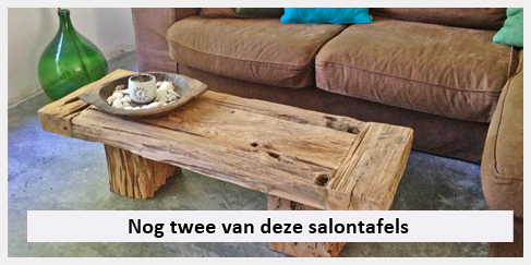 robuuste salontafel op grijze vloer