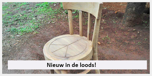 teak houten stoeltje