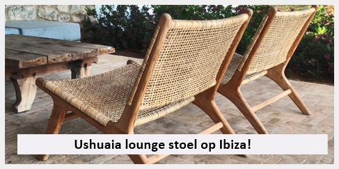 Ushuaia lounge stoel overdekt terras