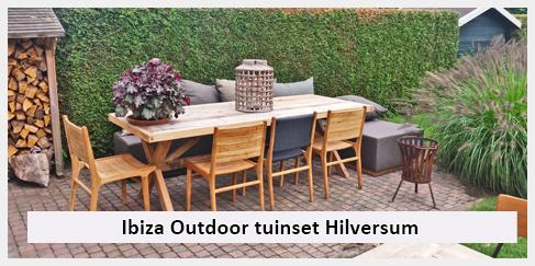 tuinset ibiza stijl tuintafel, buitenmeubels, buitenstoelen hilversum