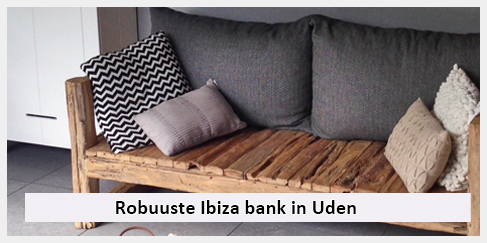 stoere tuinbank overdekte veranda Uden