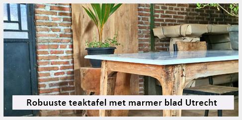 Tafel Met Marmeren Blad.Robuuste Eetkamertafel Met Marmer Blad In Utrecht Ibiza