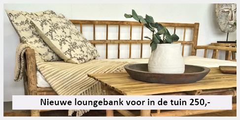 natuurlijke lounge bank bamboe terras of achtertuin
