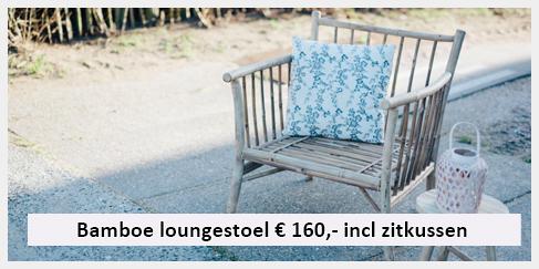 bamboe lounge stoel overdekt terras Enschede