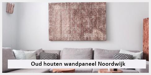 Goede Oud houten muurdecoratie boven bank woonkamer Noordwijk | Ibiza VZ-34