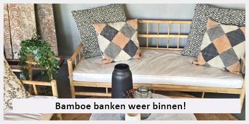 lounge bank bamboe inclusief zitkussen