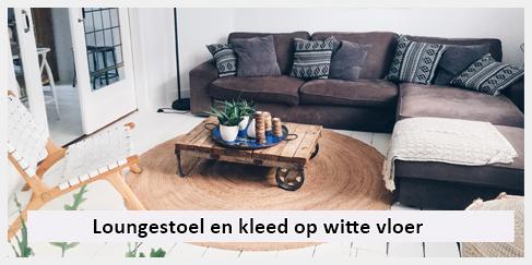 loungestoel wit leer design woonkamer witte vloer