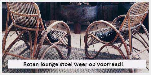 elegante rotan lounge stoel