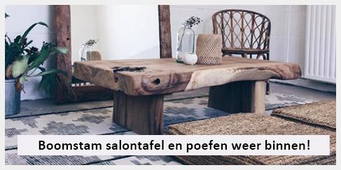 stoere salontafel en poefen