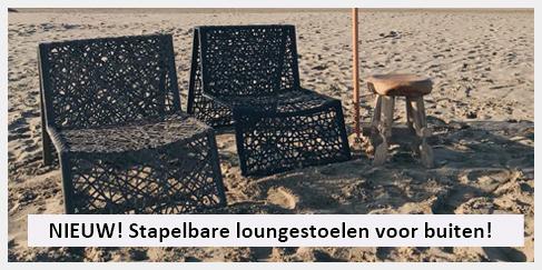 design loungestoel stapelbaar voor in de tuin
