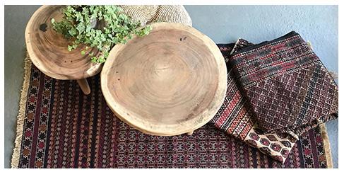 stoere vintage ibiza vloerkleed in woonkamer