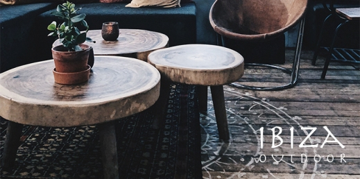 Ronde robuuste salontafels van teakhout