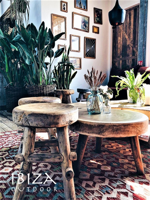 Mooie foto van ronde salontafel - Ibiza Outdoor