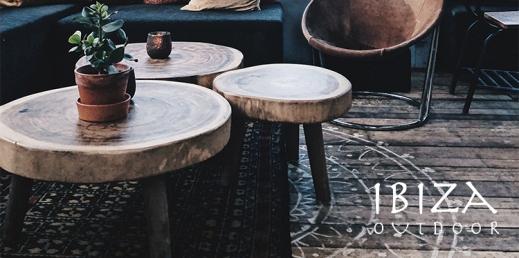 Teakhouten salontafel rond - Ibiza Outdoor