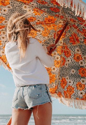 retro parasol strand